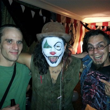donihe and i with clown